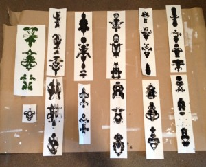 Inkblot patterns